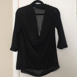 Boutique Purchased Cowl Neck Sheer Top!